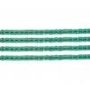 Delica 10/0 Rd Dark Green Transparent Aurora Borealis